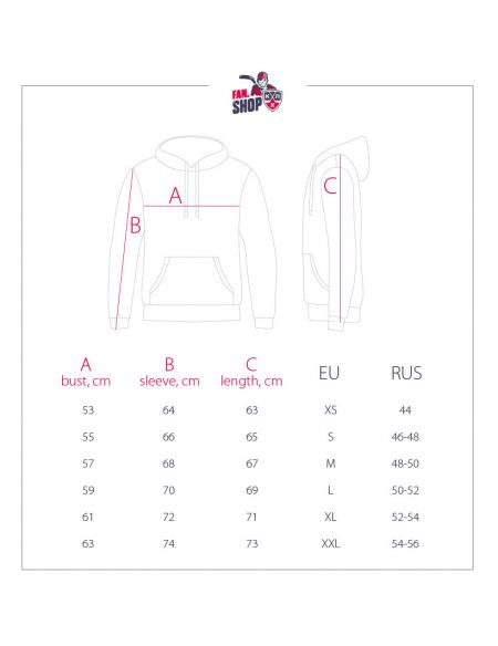Hoodie CSKA 360010 CSKA KHL FAN SHOP – hockey fan gear, apparel and souvenirs