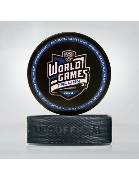 Шайба World Games Таллин 2020 WGT-2020S Шайбы КХЛ ФАН МАГАЗИН – фанатская атрибутика, одежда и сувениры