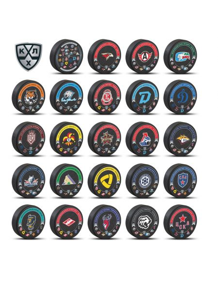 Set of KHL pucks 2020/2021 (24 pcs) KHLST1 Pucks KHL FAN SHOP – hockey fan gear, apparel and souvenirs
