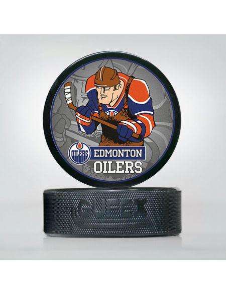 Шайба NHL Edmonton Oilers EOI-02 Шайбы КХЛ ФАН МАГАЗИН – фанатская атрибутика, одежда и сувениры