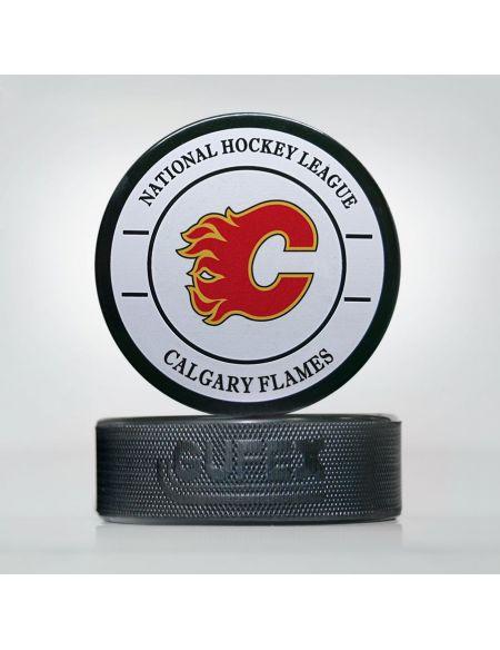 Шайба NHL Calgary Flames CFL-01 Шайбы КХЛ ФАН МАГАЗИН – фанатская атрибутика, одежда и сувениры