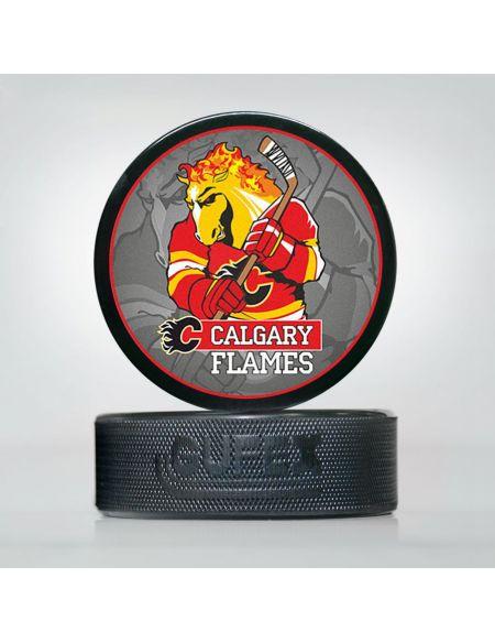 Шайба NHL Calgary Flames CFL-02 Шайбы КХЛ ФАН МАГАЗИН – фанатская атрибутика, одежда и сувениры