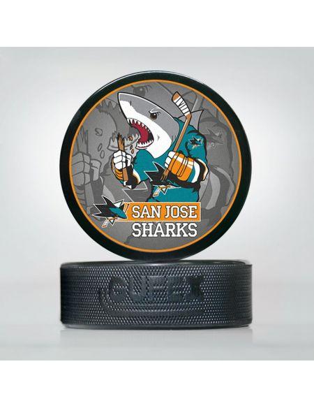 Шайба NHL San Jose Sharks SJS-02 Шайбы КХЛ ФАН МАГАЗИН – фанатская атрибутика, одежда и сувениры